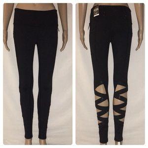 New Victoria's Secret VSX Strappy Mesh Leggings